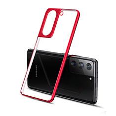 Funda Silicona Ultrafina Carcasa Transparente H01 para Samsung Galaxy S21 5G Rojo