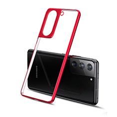 Funda Silicona Ultrafina Carcasa Transparente H01 para Samsung Galaxy S21 Plus 5G Rojo