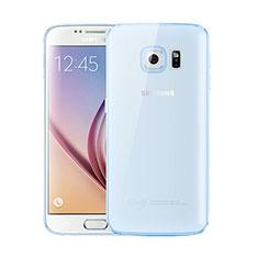 Funda Silicona Ultrafina Carcasa Transparente H01 para Samsung Galaxy S6 Duos SM-G920F G9200 Azul