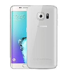 Funda Silicona Ultrafina Carcasa Transparente H01 para Samsung Galaxy S6 Edge+ Plus SM-G928F Gris