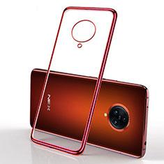 Funda Silicona Ultrafina Carcasa Transparente H01 para Vivo Nex 3 5G Rojo