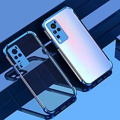 Funda Silicona Ultrafina Carcasa Transparente H01 para Vivo X60 Pro 5G Azul