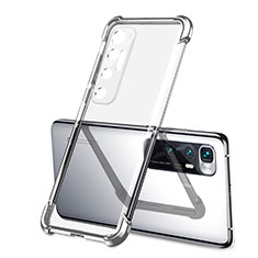 Funda Silicona Ultrafina Carcasa Transparente H01 para Xiaomi Mi 10 Ultra Plata