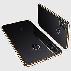 Funda Silicona Ultrafina Carcasa Transparente H01 para Xiaomi Mi Max 3 Oro