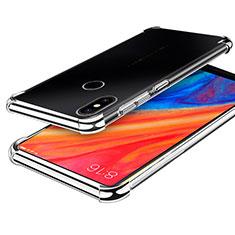 Funda Silicona Ultrafina Carcasa Transparente H01 para Xiaomi Mi Mix 2S Plata