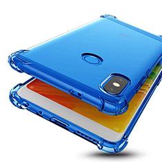 Funda Silicona Ultrafina Carcasa Transparente H01 para Xiaomi Redmi Note 5 AI Dual Camera Azul
