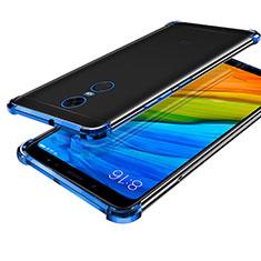 Funda Silicona Ultrafina Carcasa Transparente H01 para Xiaomi Redmi Note 5 Indian Version Azul