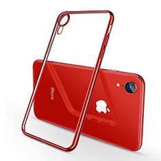 Funda Silicona Ultrafina Carcasa Transparente H02 para Apple iPhone XR Rojo
