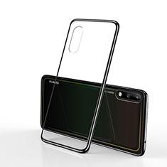 Funda Silicona Ultrafina Carcasa Transparente H02 para Huawei Enjoy 10 Negro