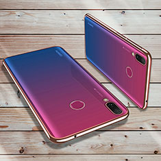Funda Silicona Ultrafina Carcasa Transparente H02 para Huawei Enjoy 9 Plus Oro Rosa