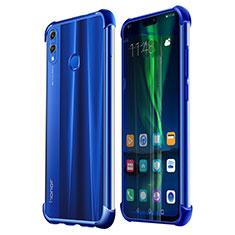 Funda Silicona Ultrafina Carcasa Transparente H02 para Huawei Honor 8X Azul