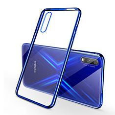 Funda Silicona Ultrafina Carcasa Transparente H02 para Huawei Honor 9X Azul