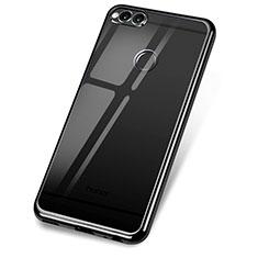 Funda Silicona Ultrafina Carcasa Transparente H02 para Huawei Honor Play 7X Negro
