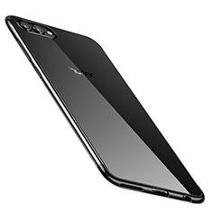 Funda Silicona Ultrafina Carcasa Transparente H02 para Huawei Honor V10 Negro