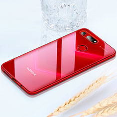 Funda Silicona Ultrafina Carcasa Transparente H02 para Huawei Honor View 20 Rojo
