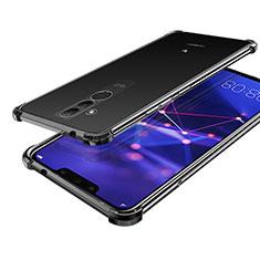 Funda Silicona Ultrafina Carcasa Transparente H02 para Huawei Mate 20 Lite Negro