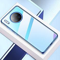 Funda Silicona Ultrafina Carcasa Transparente H02 para Huawei Mate 30 Azul