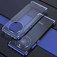 Funda Silicona Ultrafina Carcasa Transparente H02 para Huawei Mate 40 Azul
