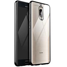 Funda Silicona Ultrafina Carcasa Transparente H02 para Huawei Mate 9 Pro Negro