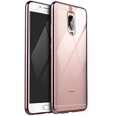 Funda Silicona Ultrafina Carcasa Transparente H02 para Huawei Mate 9 Pro Oro Rosa