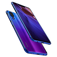 Funda Silicona Ultrafina Carcasa Transparente H02 para Huawei Nova 3 Azul