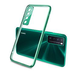 Funda Silicona Ultrafina Carcasa Transparente H02 para Huawei Nova 7 5G Verde