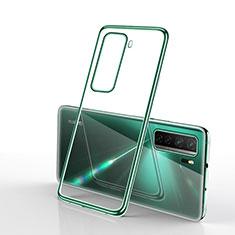 Funda Silicona Ultrafina Carcasa Transparente H02 para Huawei Nova 7 SE 5G Verde