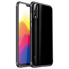 Funda Silicona Ultrafina Carcasa Transparente H02 para Huawei P20 Pro Negro