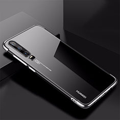 Funda Silicona Ultrafina Carcasa Transparente H02 para Huawei P30 Plata