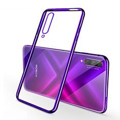 Funda Silicona Ultrafina Carcasa Transparente H02 para Huawei Y9s Morado