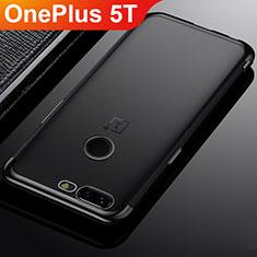 Funda Silicona Ultrafina Carcasa Transparente H02 para OnePlus 5T A5010 Negro