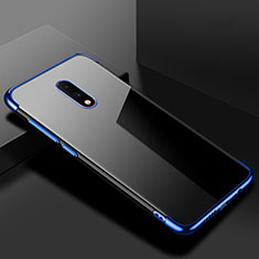 Funda Silicona Ultrafina Carcasa Transparente H02 para OnePlus 7 Azul