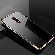 Funda Silicona Ultrafina Carcasa Transparente H02 para OnePlus 7 Oro