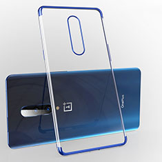Funda Silicona Ultrafina Carcasa Transparente H02 para OnePlus 7 Pro Azul