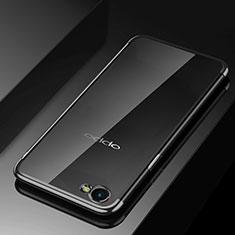 Funda Silicona Ultrafina Carcasa Transparente H02 para Oppo A3 Negro