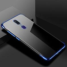 Funda Silicona Ultrafina Carcasa Transparente H02 para Oppo A9 Azul