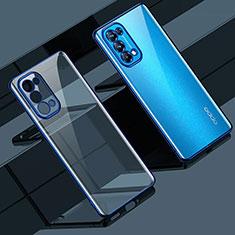 Funda Silicona Ultrafina Carcasa Transparente H02 para Oppo Reno5 5G Azul