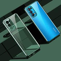 Funda Silicona Ultrafina Carcasa Transparente H02 para Oppo Reno5 Pro 5G Verde