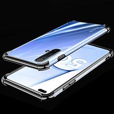 Funda Silicona Ultrafina Carcasa Transparente H02 para Realme X50m 5G Negro