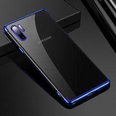 Funda Silicona Ultrafina Carcasa Transparente H02 para Samsung Galaxy Note 10 Plus Azul