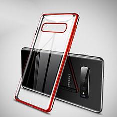 Funda Silicona Ultrafina Carcasa Transparente H02 para Samsung Galaxy S10 Plus Rojo