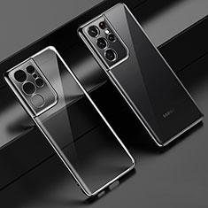 Funda Silicona Ultrafina Carcasa Transparente H02 para Samsung Galaxy S21 Ultra 5G Negro