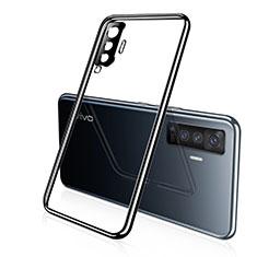Funda Silicona Ultrafina Carcasa Transparente H02 para Vivo X50 5G Negro