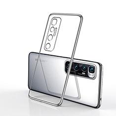 Funda Silicona Ultrafina Carcasa Transparente H02 para Xiaomi Mi 10 Ultra Plata
