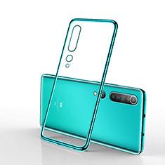 Funda Silicona Ultrafina Carcasa Transparente H02 para Xiaomi Mi 10 Verde