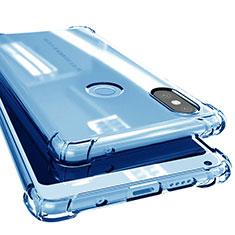 Funda Silicona Ultrafina Carcasa Transparente H02 para Xiaomi Mi Mix 2S Azul
