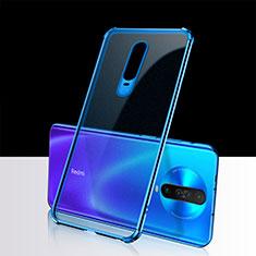 Funda Silicona Ultrafina Carcasa Transparente H02 para Xiaomi Poco X2 Azul