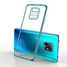 Funda Silicona Ultrafina Carcasa Transparente H02 para Xiaomi Redmi 10X Pro 5G Cian