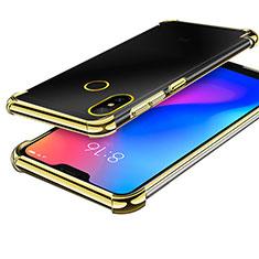 Funda Silicona Ultrafina Carcasa Transparente H02 para Xiaomi Redmi 6 Pro Oro