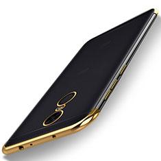 Funda Silicona Ultrafina Carcasa Transparente H02 para Xiaomi Redmi Note 5 Indian Version Oro